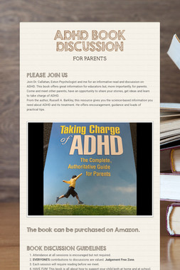 ADHD BOOK DISCUSSION
