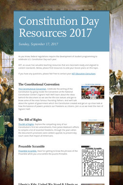 Constitution Day Resources 2017