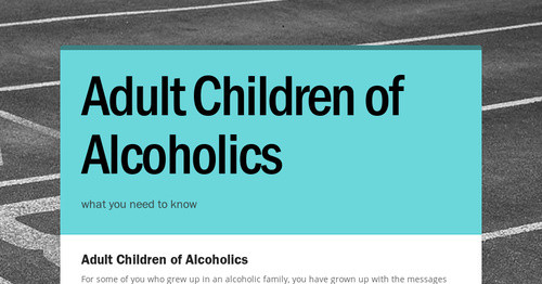 an introduction to the issue of alcoholism in a family The social effects of alcoholism learn how alcohol impacts the individual, family and society read about its role in domestic violence, college campus assaults, and its cost to the nation and workplaces.
