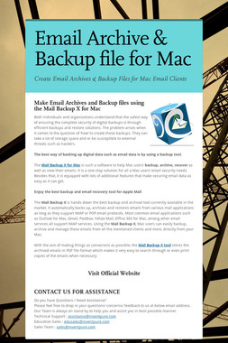 Email Archive & Backup file for Mac