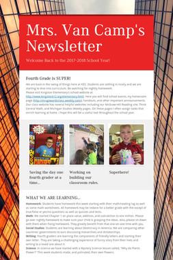 Mrs. Van Camp's Newsletter