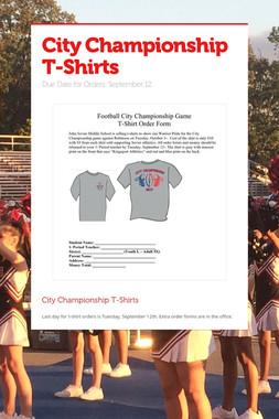 City Championship T-Shirts