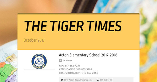 THE TIGER TIMES | Smore Newsletters