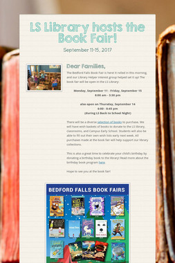 LS Library hosts the Book Fair!