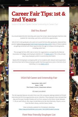 Career Fair Tips: 1st & 2nd Years