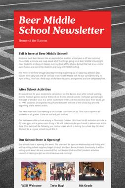 Beer Middle School Newsletter
