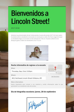 Bienvenidos a Lincoln Street!