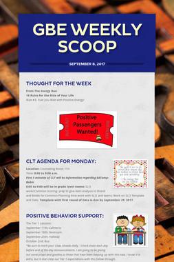 GBE Weekly Scoop