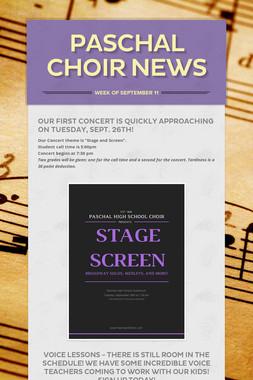 Paschal Choir News
