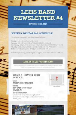 LEHS Band Newsletter #4