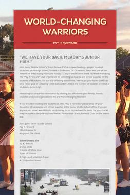 World-Changing Warriors