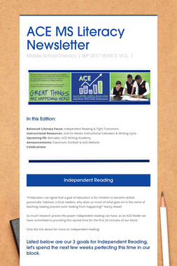 ACE MS Literacy Newsletter