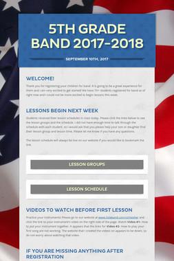 5th Grade Band 2017-2018