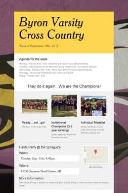 Byron Varsity Cross Country