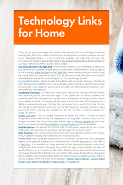 Technology Links for Home