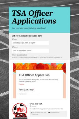 TSA Officer Applications