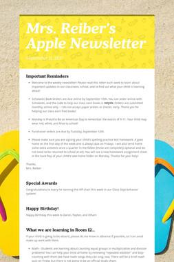 Mrs. Reiber's Apple Newsletter
