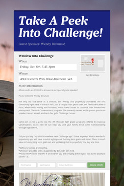 Take A Peek Into Challenge!