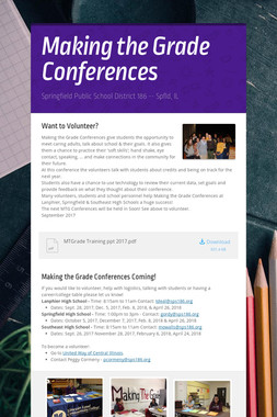 Making the Grade Conferences