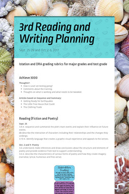 3rd Reading and Writing Planning