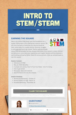 Intro to STEM/STEAM