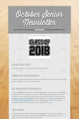 October Senior Newsletter