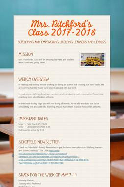 Mrs. Pitchford's Class 2017-2018