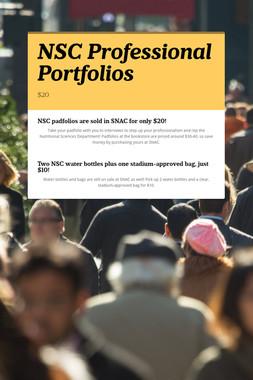 NSC Professional Portfolios