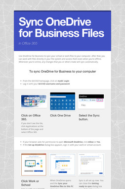 Sync OneDrive for Business Files
