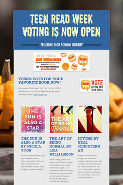 Teen Read Week Voting is Now Open