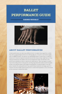 Ballet Performance Guide