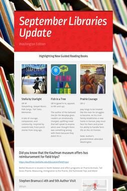 September Libraries Update