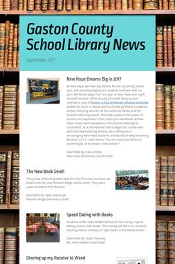 Gaston County School Library News