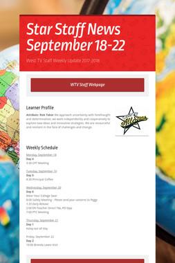 Star Staff News   September 18-22