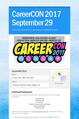 CareerCON 2017 September 29