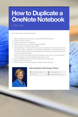 How to Duplicate a OneNote Notebook