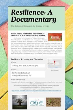 Resilience: A Documentary