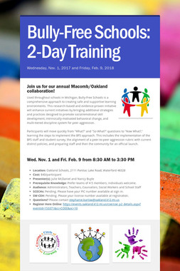 Bully-Free Schools: 2-Day Training
