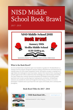 NISD Middle School Book Brawl