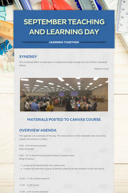 September Teaching and Learning Day