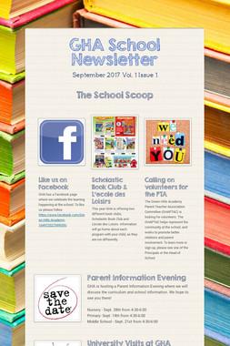 GHA School Newsletter