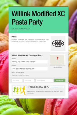 Willink Modified XC Pasta Party