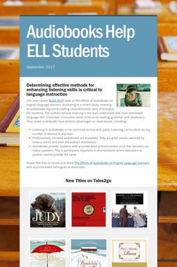 Audiobooks Help ELL Students