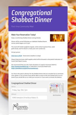 Congregational Shabbat Dinner