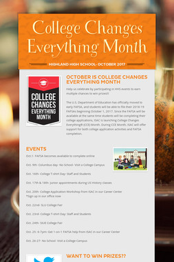 College Changes Everything Month