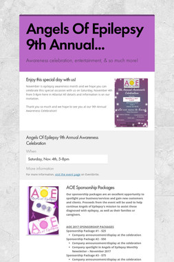 Angels Of Epilepsy 9th Annual...