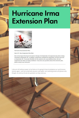 Hurricane Irma Extension Plan