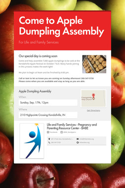 Come to Apple Dumpling Assembly