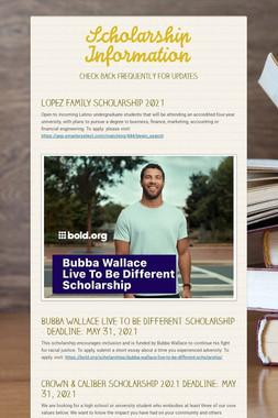 Scholarship, Enrichment & Job Info
