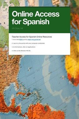 Online Access for Spanish